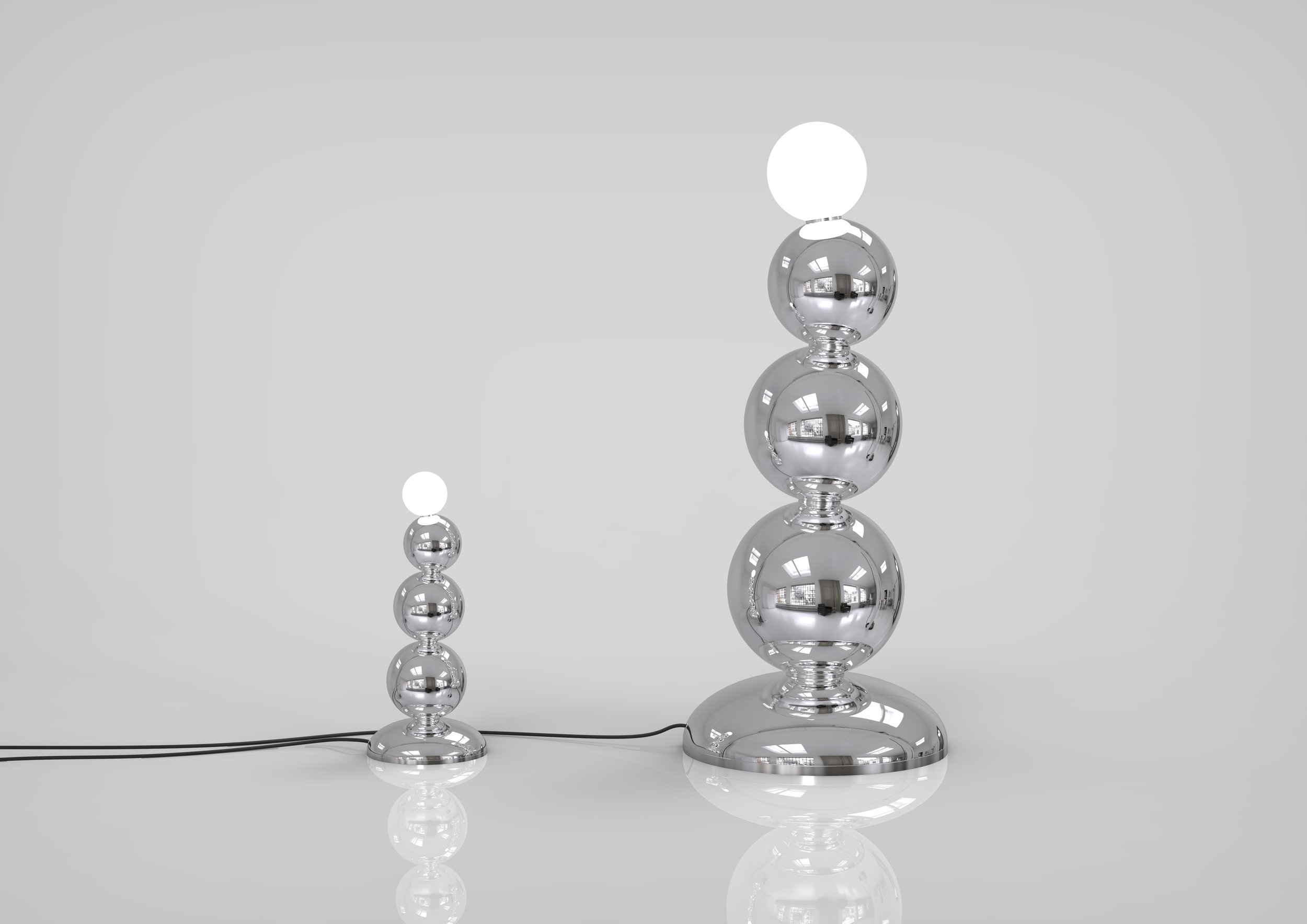 MONSTER BEADS - 2018Large - 125x45cmSmall - 45x21cmFloor lampFloor lamp made by traditional technique silvered glass production. Objects are made in various colors and limited edition.