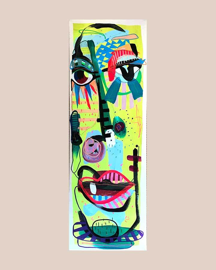 POPSQUEZER Y Spraypaint und Acryl auf Leinwand 2018 · 90 x 30 cm   Preis auf Anfrage
