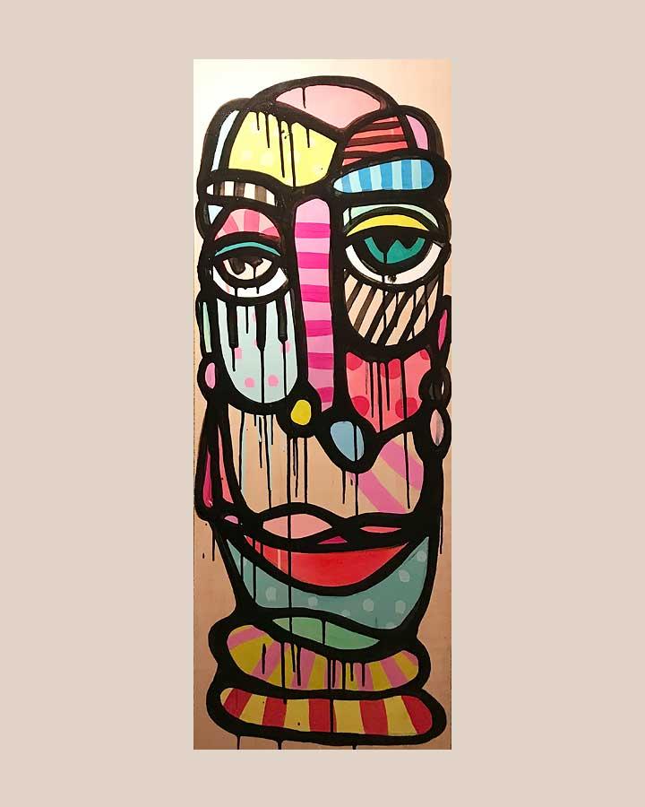 LULATSCH 1 Acryl auf Sperrholz 2018 · 125 x40 cm   Preis auf Anfrage