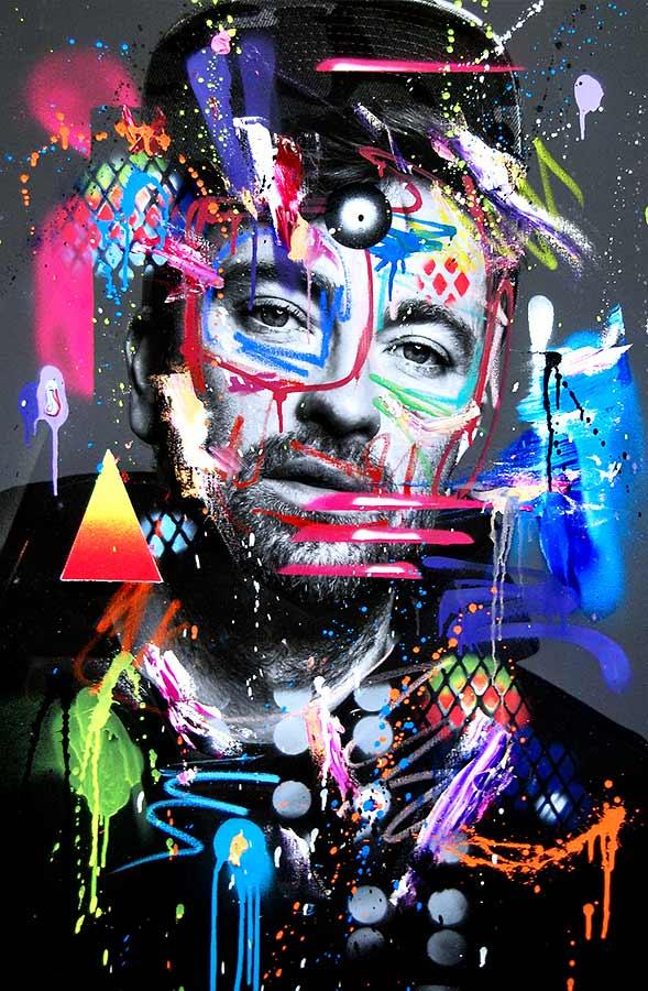 MARTERIA SONS OF ROSTOCK mixed media on canvas 2018 · 115 x 75 cm   Preis auf Anfrage