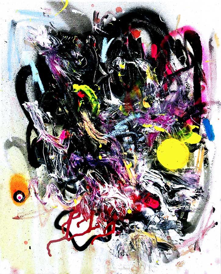 HAI UND HUNGRIG mixed media on canvas 2016 · 50 x 40 cm   Preis auf Anfrage
