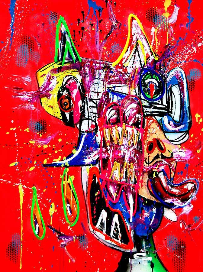 HOLY GEIST mixed media on canvas 2018 · 120 x 90 cm   Preis auf Anfrage
