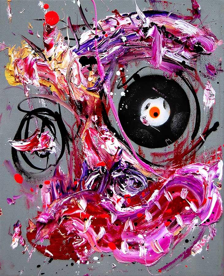 LEIDER HABE ICH ES SO GEWOLLT mixed media on canvas 2018 · 30 x 24 cm   Preis auf Anfrage