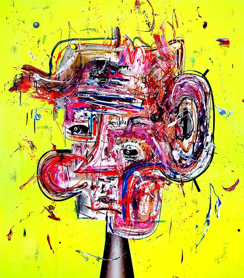 LIEBESTOLLER LIEBESTROLL mixed media on canvas 2016 · 170 x 150 cm   Preis auf Anfrage