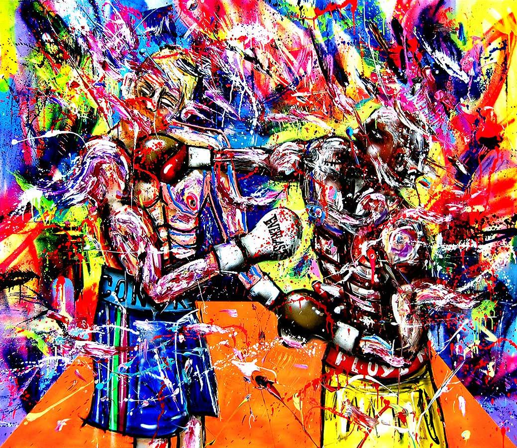 POWER mixed media on canvas 2018 · 150 x 170 cm   Preis auf Anfrage