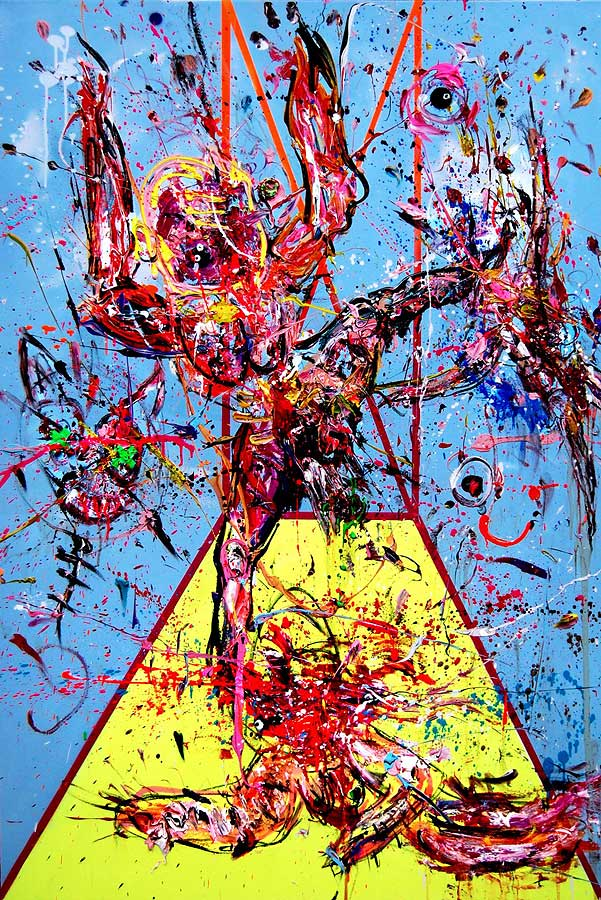 SPEED KILLS mixed media on canvas 2016 · 150 x 100 cm   Preis auf Anfrage