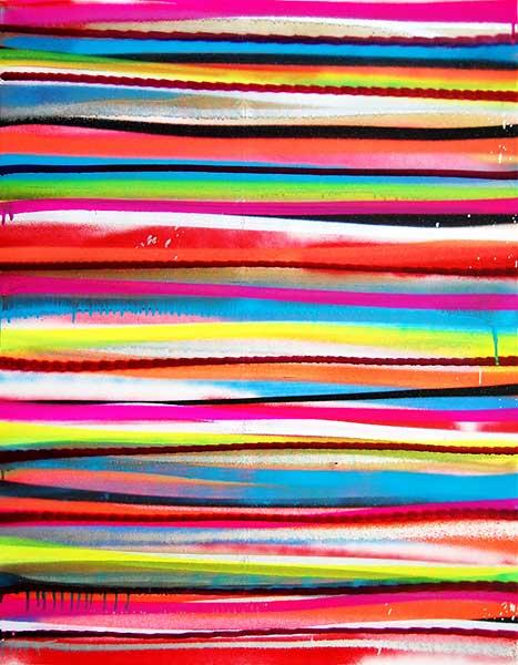 SSS  ( SCHEISSSTRICHERSTREIFEN NR. 1 )  mixed media on canvas 2012 · 90 x 70 cm   Preis auf Anfrage