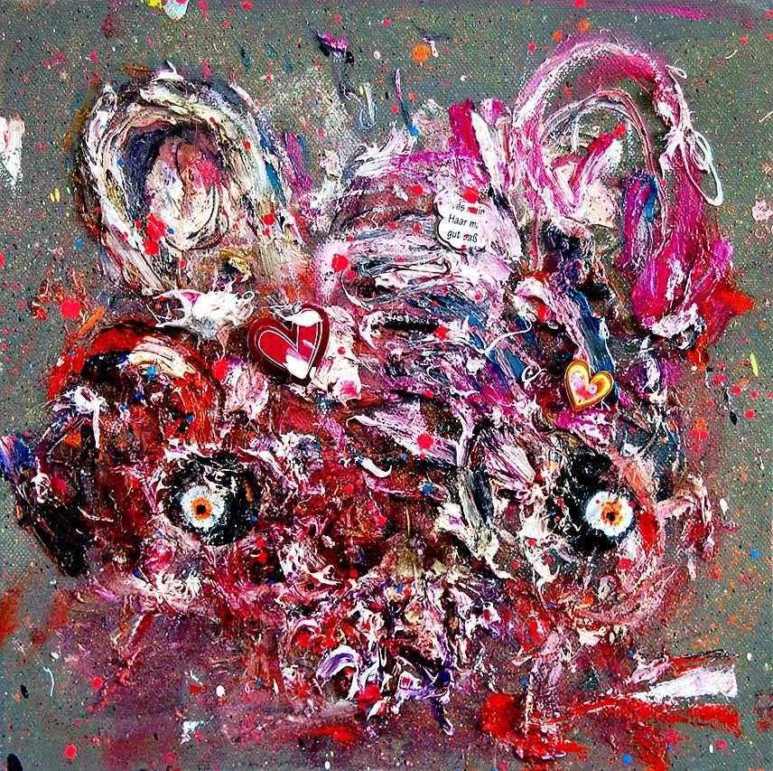 SUSHI DÖNER GLÜHWEIN mixed media on canvas 2016 · 30 x 30 cm   Preis auf Anfrage