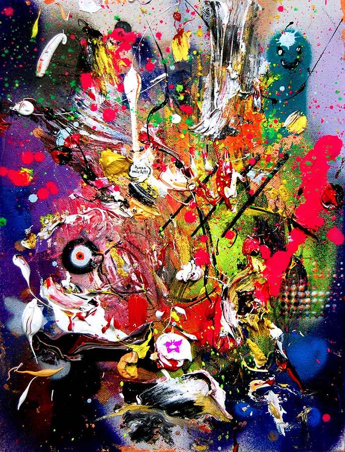 WHITE FERRARI mixed media on canvas 2016 · 40 x 30 cm   Preis auf Anfrage