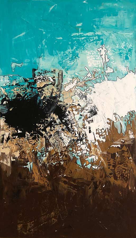 CHANDRASEKHAR GRENZE Acryl auf Leinwand 2018 · 80 x 140 cm   Preis auf Anfrage