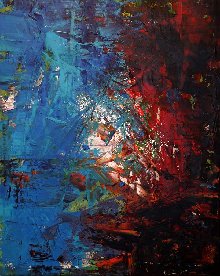 HELLEAVEN Acryl auf Leinwand 2018 · 80 x 100 cm   Preis auf Anfrage