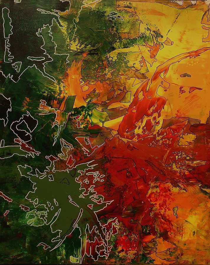LICHTZELLE Acryl auf Leinwand 2018 · 80 x 100 cm   Preis auf Anfrage