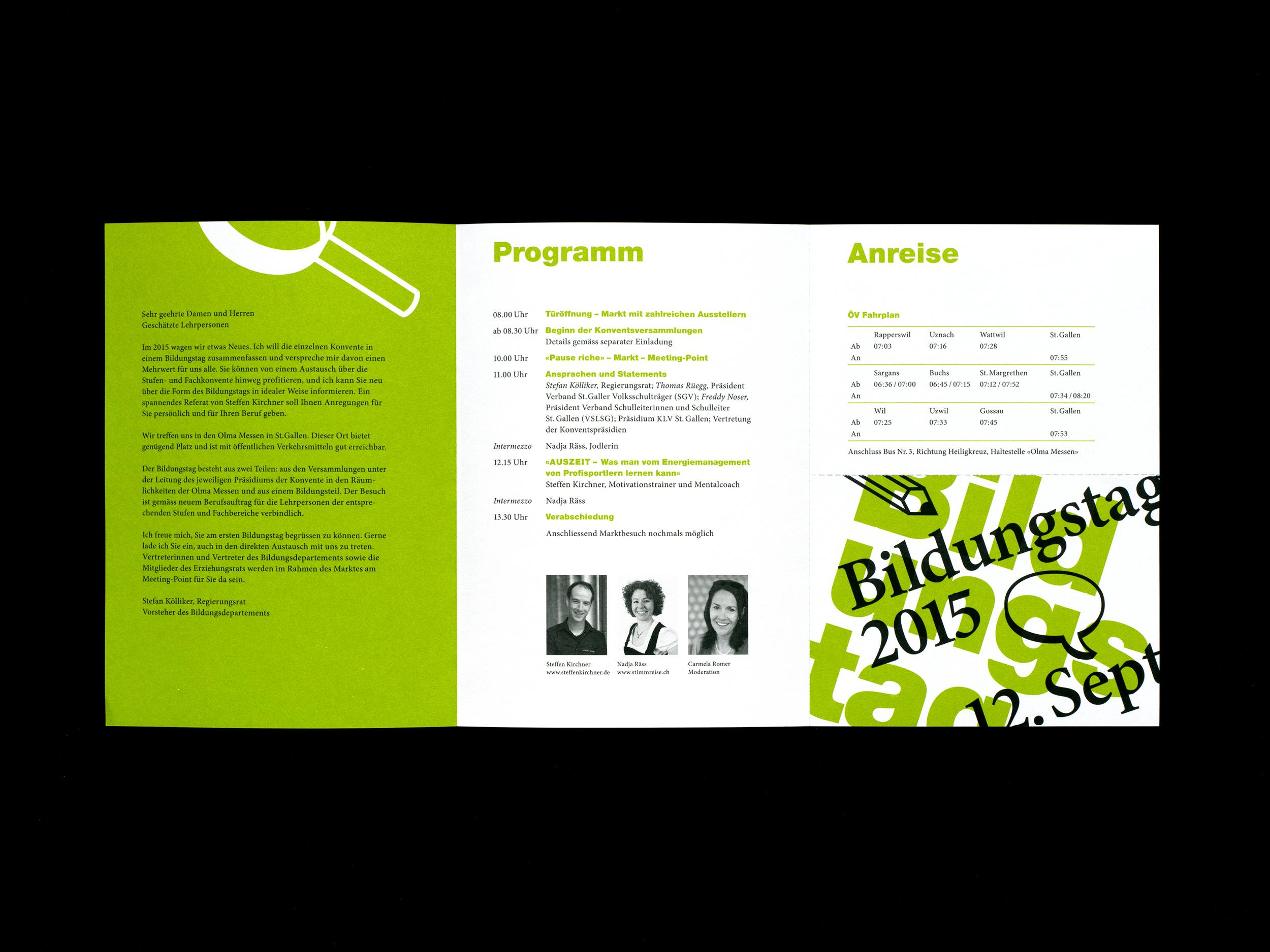 Bildungstag Flyer