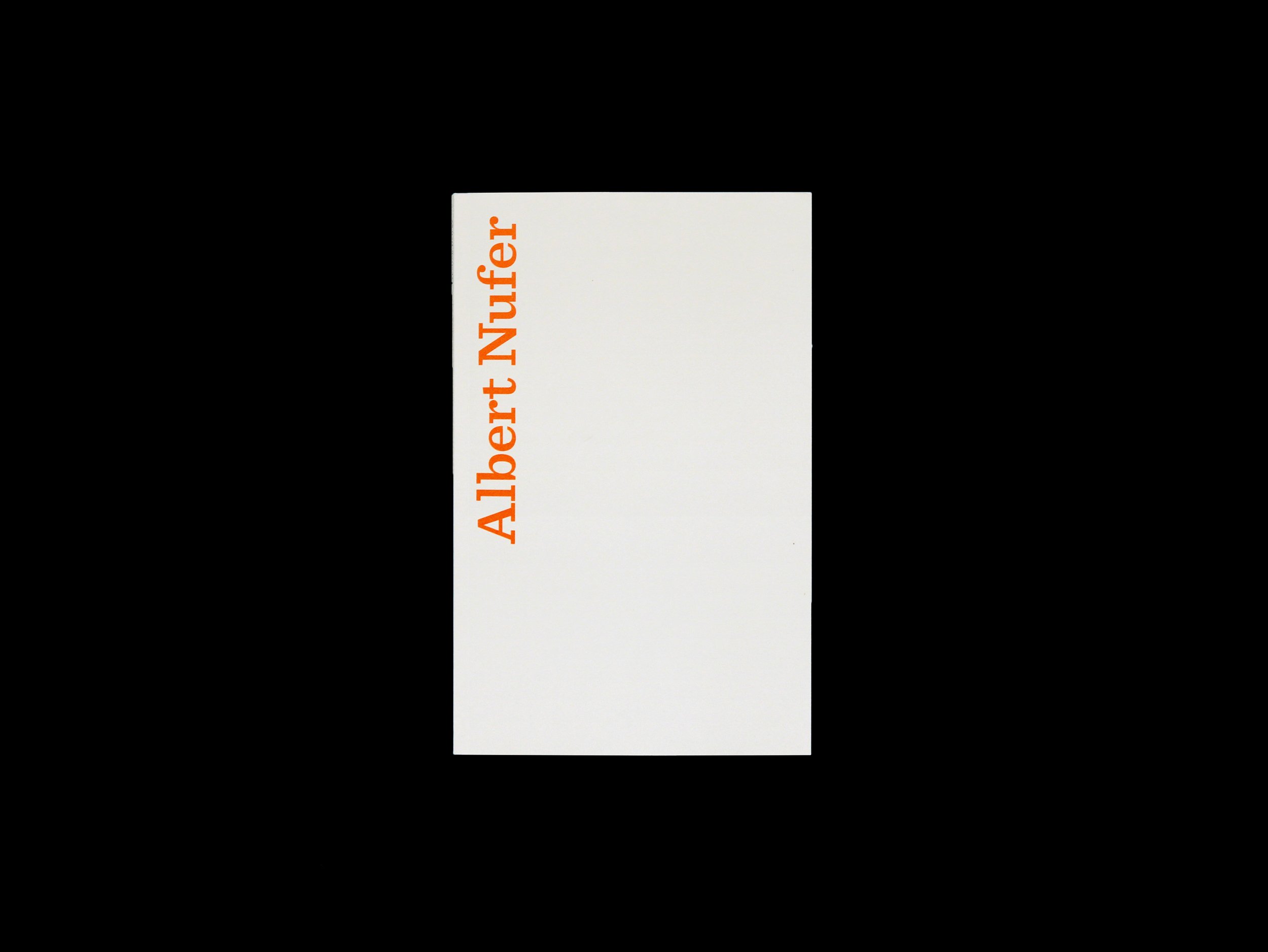 Typotron-Heft: Albert Nufer Book Design