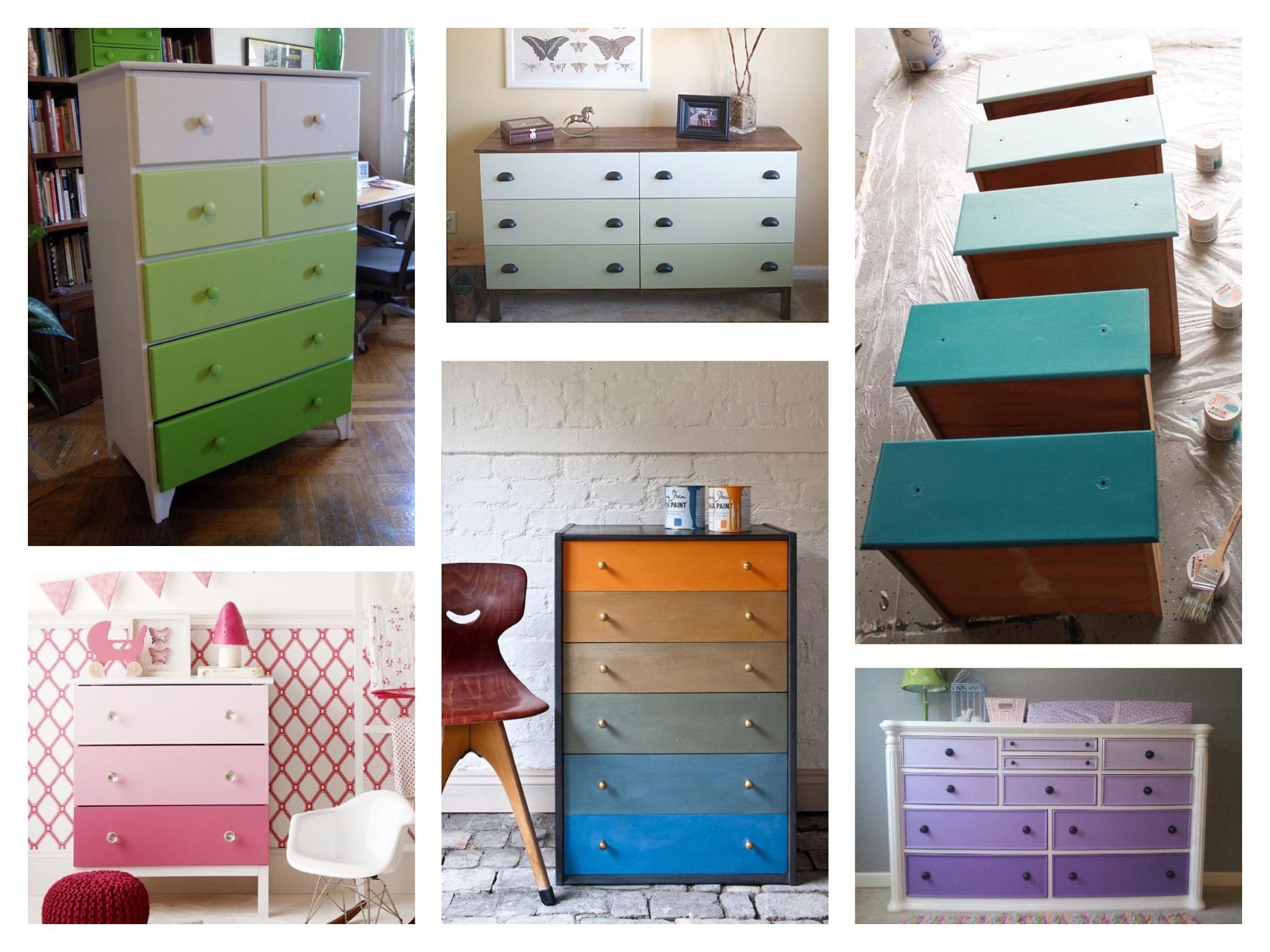 примеры окраски омбре из Pinterest