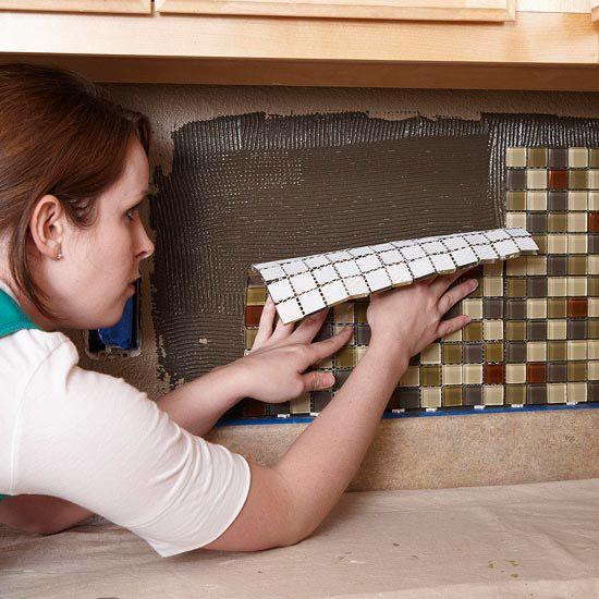 Плиточная мозайка на подложке