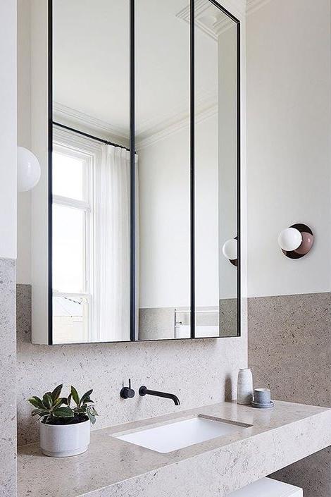 зеркальный шкафчик в ванной  источник