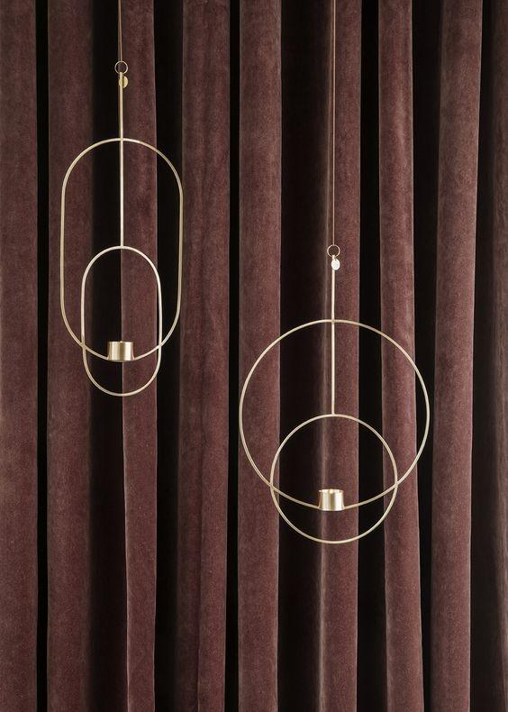 подвесные подсвечники от  Ferm Living . продукцию датского бренда можно теперь приобрести и в России, правда, пока только в Санкт-Петербурге