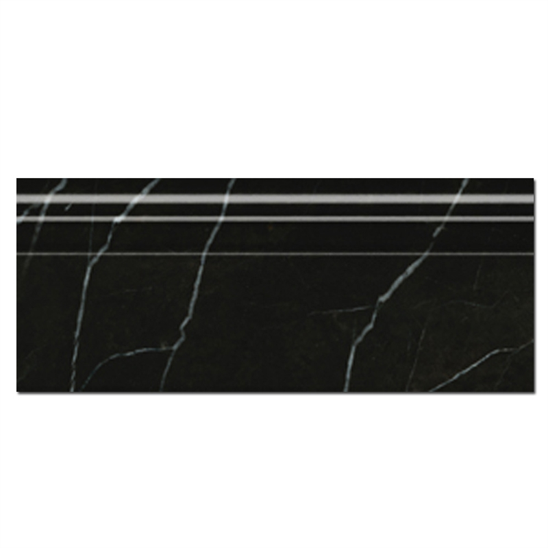 керамический плинтус под черный мрамор