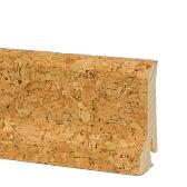 деревянный плинтус, шпонированный пробкой