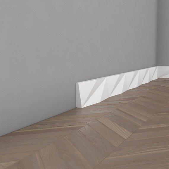 плинтус из полиуретана оригами