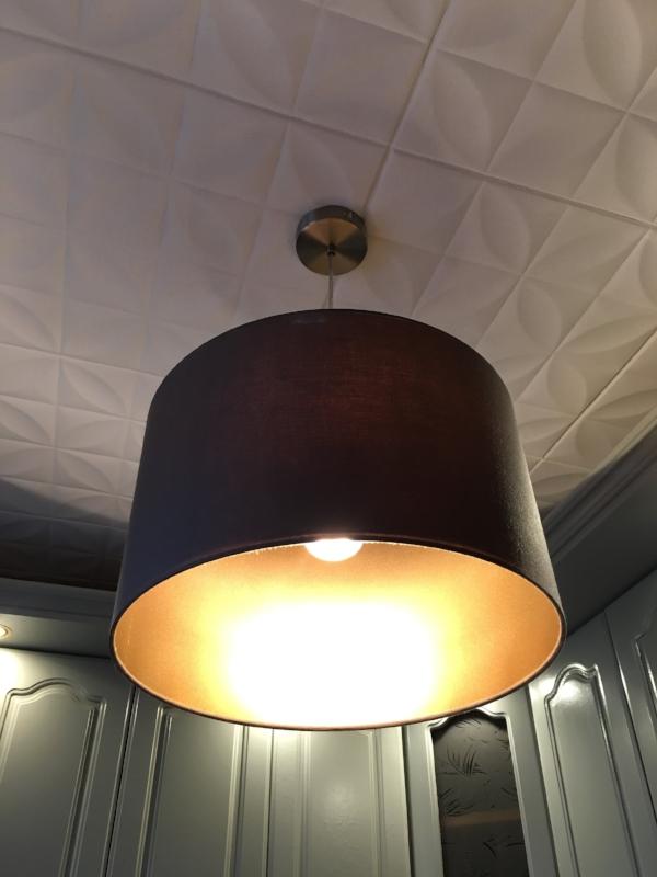 как перекрасить абажур старой лампы