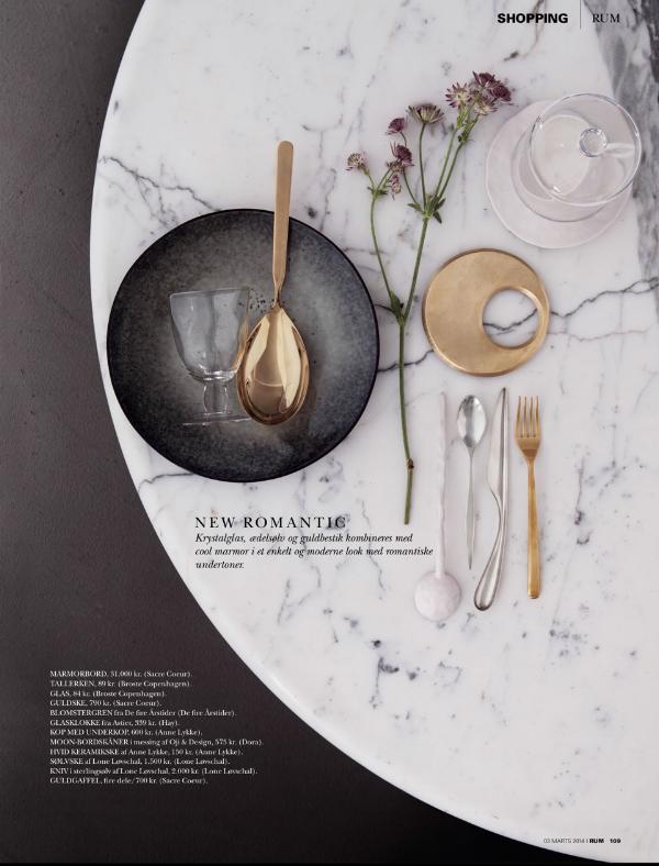 сервировка стола по версии датского журнала RUM  источник