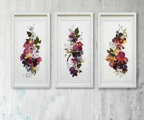 картины из засушенных цветов источник