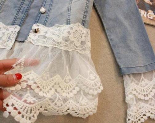 украсьте повседневную одежду тканью от свадебного платья или фаты источник
