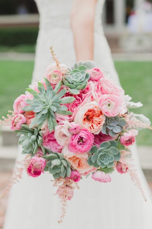 свадебный букет с суккулентами источник Stacy Able Photography | www.stacyable.com