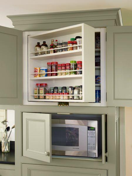 кухонные шкафы с двойным рядом полок  источник