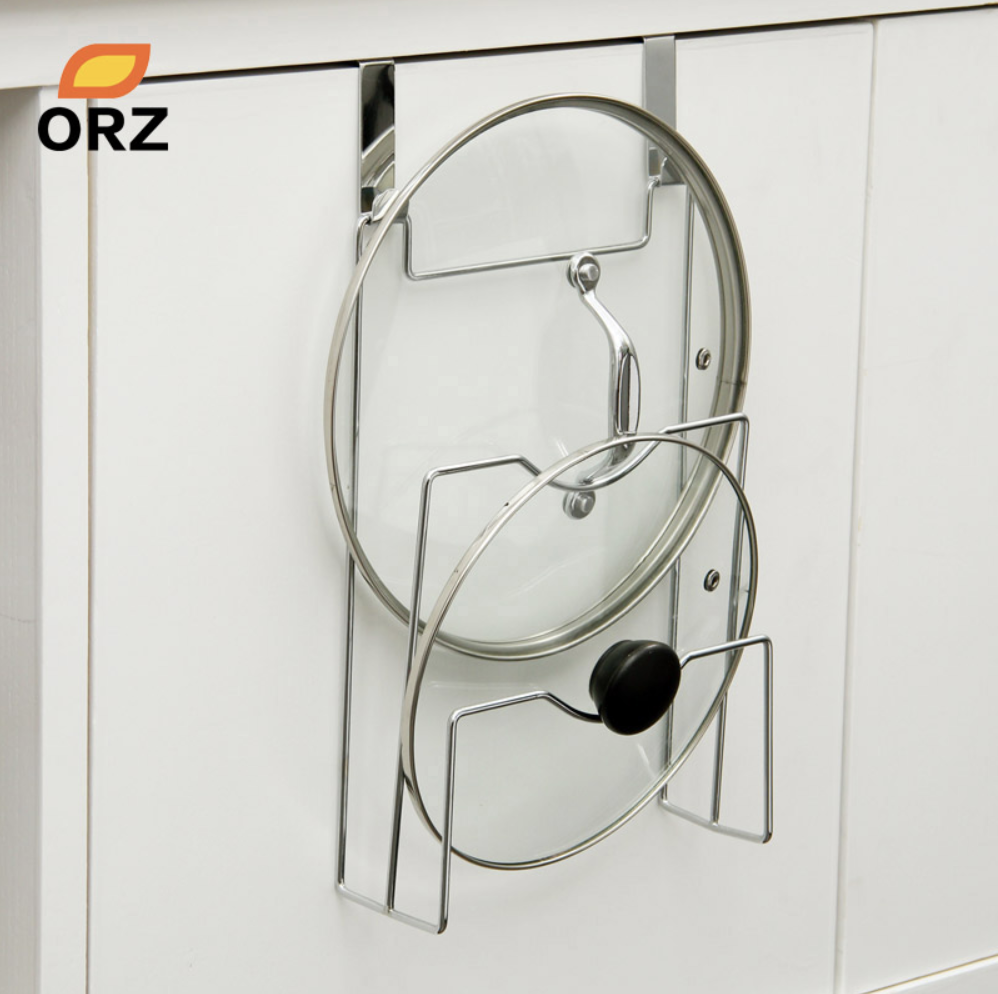 металлическая подставка держатель для крышек навесная на дверь шкафа