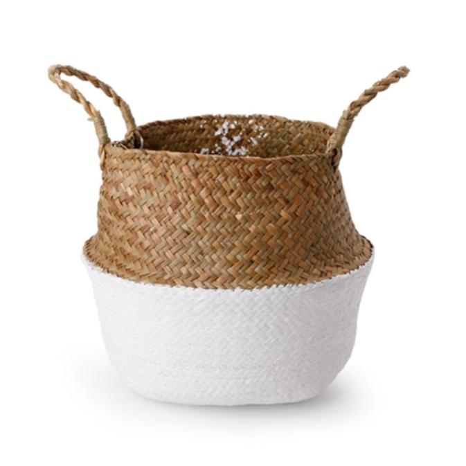 плетеная корзина в скандинавском стиле