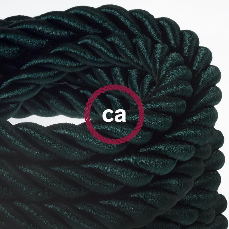 темно-зеленый кабельдля внешней проводки в тканевой обмотке источник