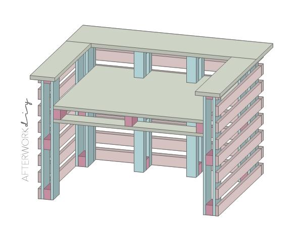 барная стойка ресепшн из поддонов своими руками компьютерный стол из поддонов фото чертежи размеры инструкция