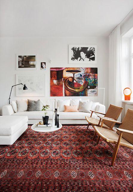 ковры в современных интерьерах  источник