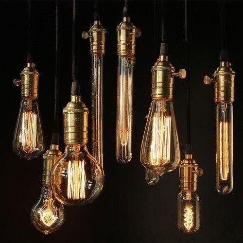 лофт винтаж светильники лампочки эдиссона  источник