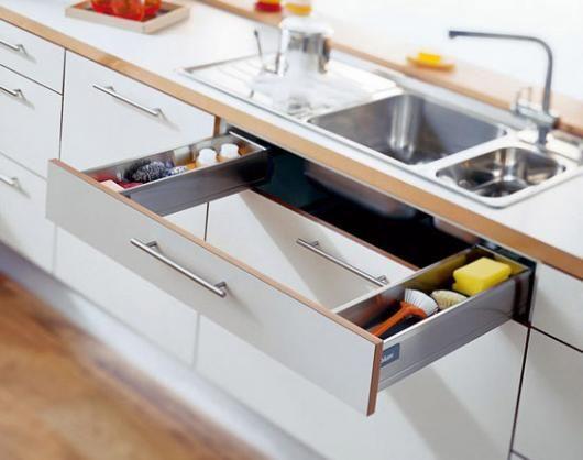 полезные идеи для шкафчика под раковинойна кухне  источник