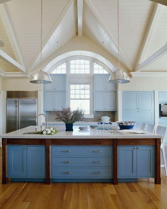 сине-голубая кухня  источник