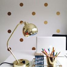 золотые наклейки стикеры для стен кружочки в скандинавском стиле