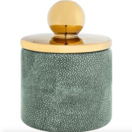 золотой керамический контейнер для хранения  Керамическая настольная ваза Gold
