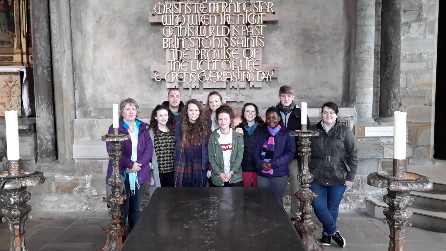 At the shrine of St Bede