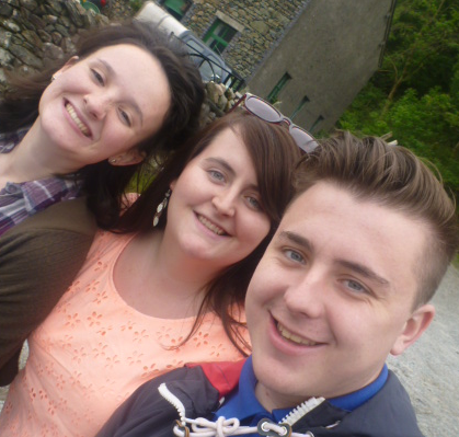 Libby on the left, with Patricia and Kieron