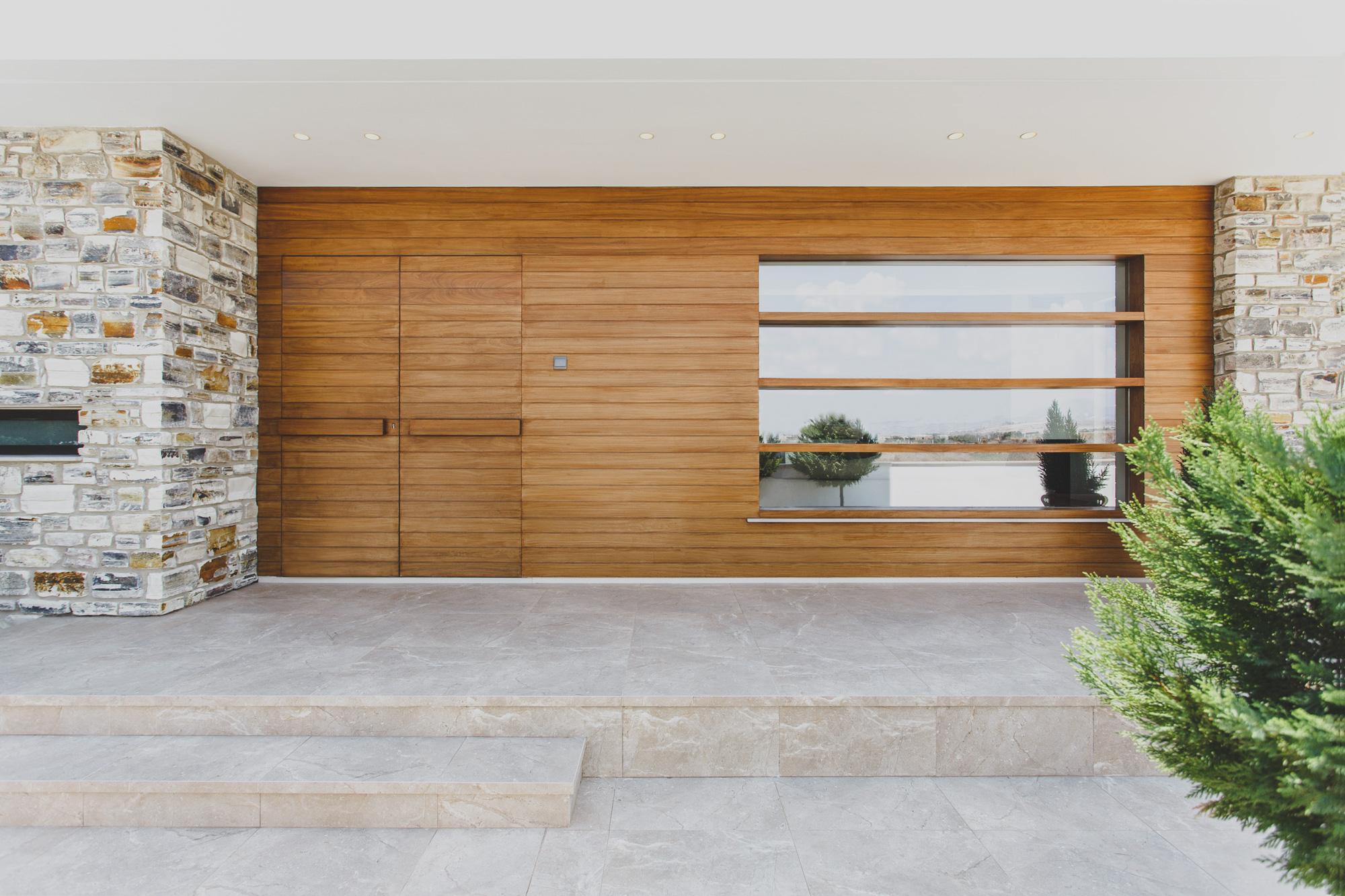 Copy of Entrance door iroko wood