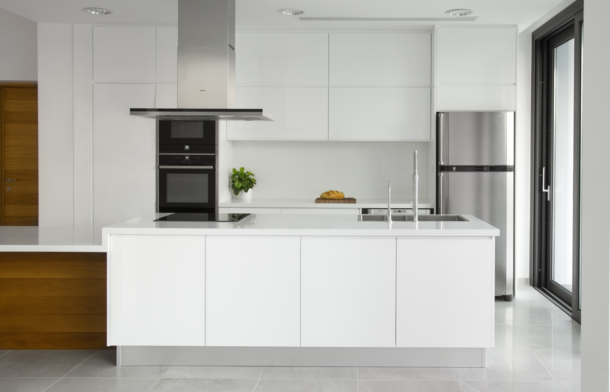 Kitchen white island