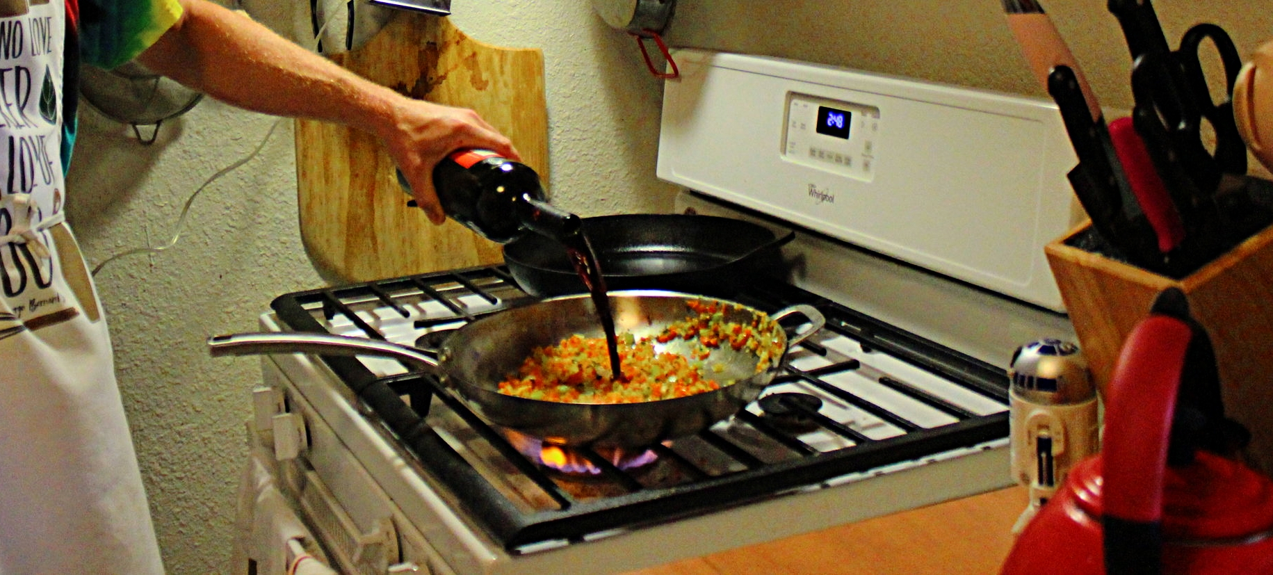 Always cook with wine. Always.