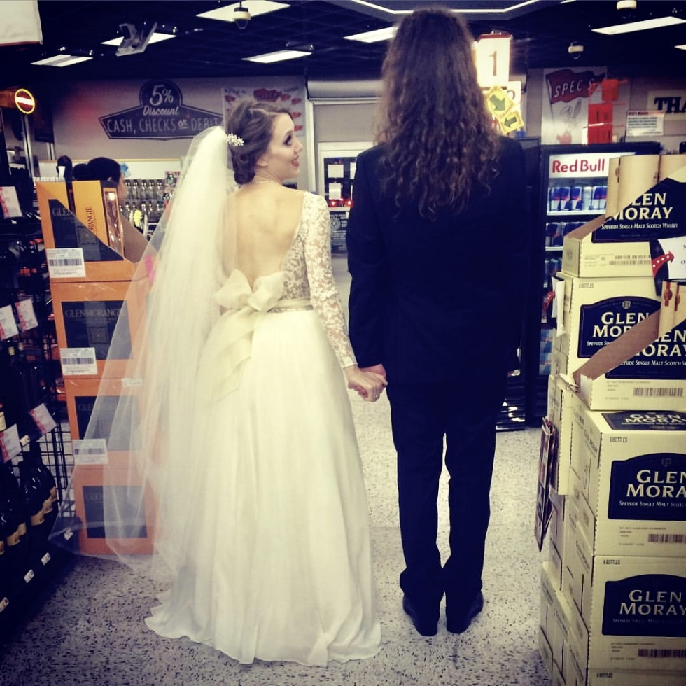 Yes. We went to Spec's on the way to our wedding reception. We're classy AF.