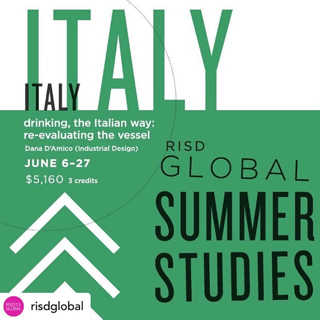 Applications close this Thursday for Rome: Drinking, the Italian Way - Re-evaluating the Vessel, a @risdglobal summer course taught by @risdid's own Dana D'Amico @designskool! The course is open to all @risd1877 students as well as non-RISD students and practicing professionals.  #risd #risdid