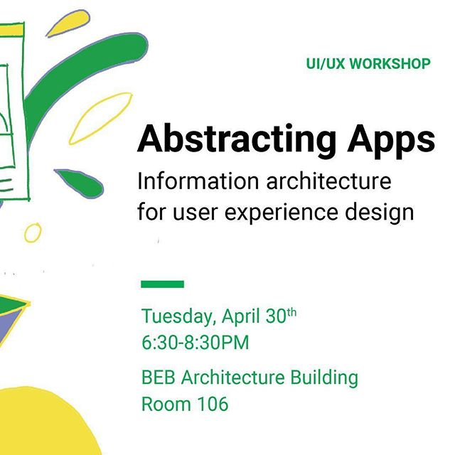 #RepostPlus @risd_idsa #risd #risdid - - - - - - Are you interested in UI/UX? Do you want to learn practical tools to build clear, human experiences?  RISD IDSA presents UI/UX Workshop: Abstracting Apps to explore what information architecture is and why it's critical to building successful apps. The workshop will feature Chapman Battis & Andy Davies, product designers @mojotech.  Join us next Tuesday, April 30th. FOOD WILL BE PROVIDED! All majors welcome😊 Registration link in bio!