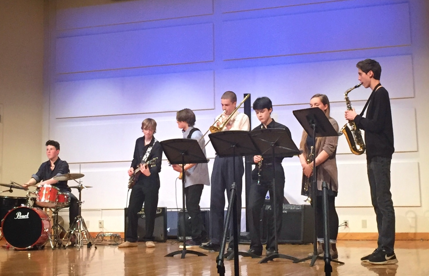 IS THIS MIDDLE SCHOOL JAZZ BAND? NEED PHOTO IF NOT.